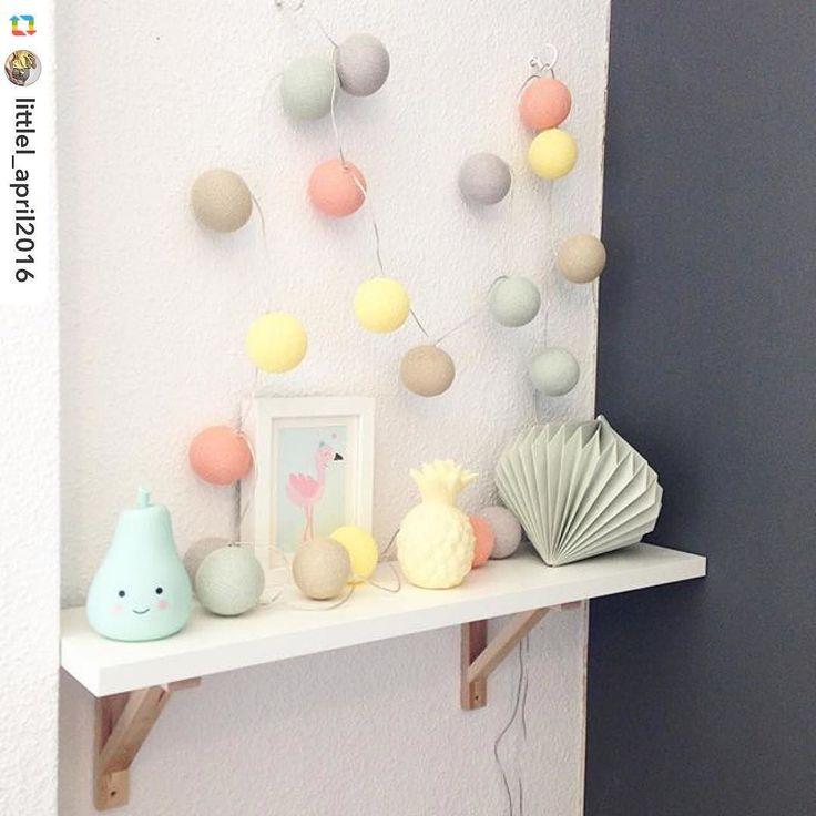 Perfect Diese wunderh bsche Kinderzimmer Deko mit einer selbst gestalteten good moods Lichterkette von der lieben