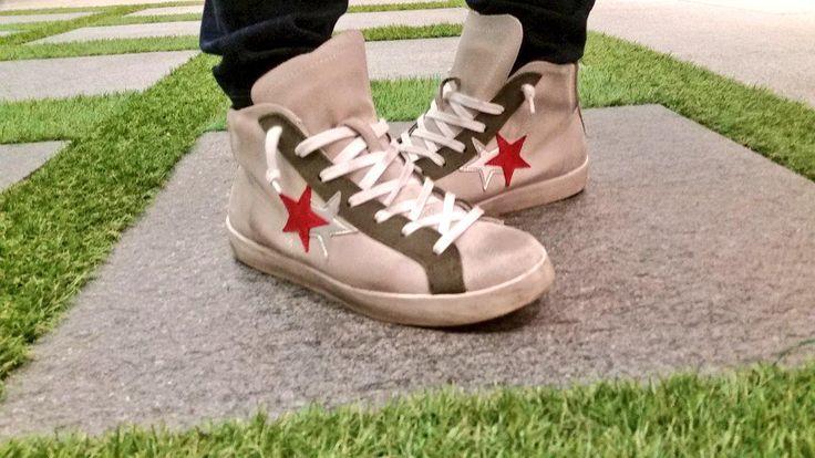 #shoes with stars on Aextra20 #tile floor. #Cersaie2015, #selfeet, #CaesarCersaie, #outdoortiles