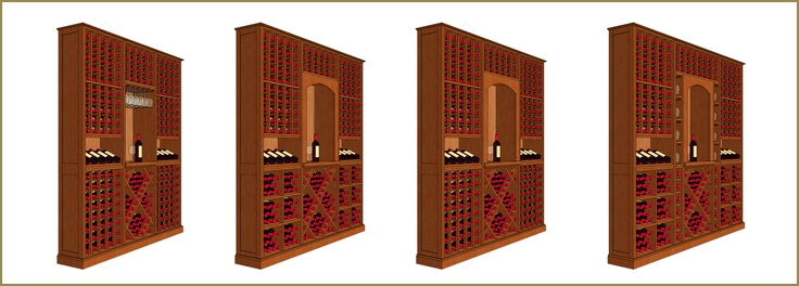 Modular wine racks are pre-assembled storage units that are available in a range of sizes and configurations.  These beautifully crafted wine racks can be placed in the living room or installed in wine cellars without looking out of place. View more photos here - http://www.winecellarspec.com/modular-wine-racks-texas-kessick/. Wine Cellar Specialists  4421 Cedar Elm Circle Richardson, TX 75082  Toll Free: 866-646-7089  Texas Office: 972-454-0480