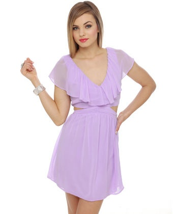 Spring Dresses, Cutout Dresses, Clothing, Spring Colors, Lavender Dresses, Easter Dresses, Easter Eggs, Ruffles Dresses, Cut Out