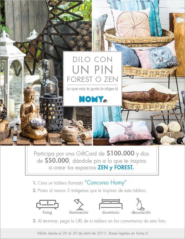 ¡Participa! #Concurso #Zen #Forest #Homy Bases del concurso en Homy.cl