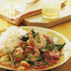Foto da receita: Gumbo de camarão
