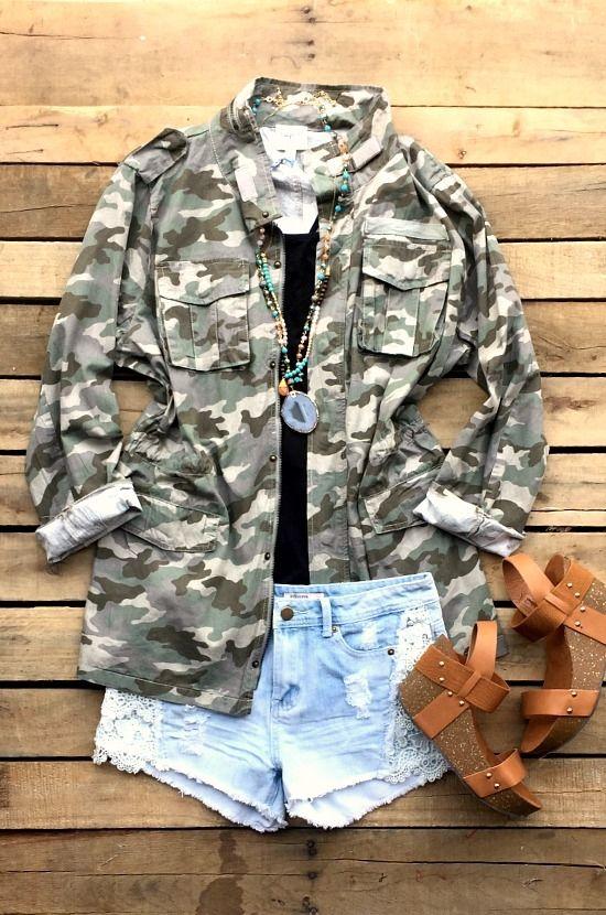 'Cause She's Gone Camo Jacket $62.99! #southernfriedchics