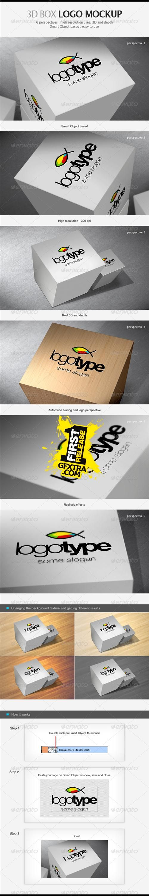 GraphicRiver - 3D Box Logo Mockup