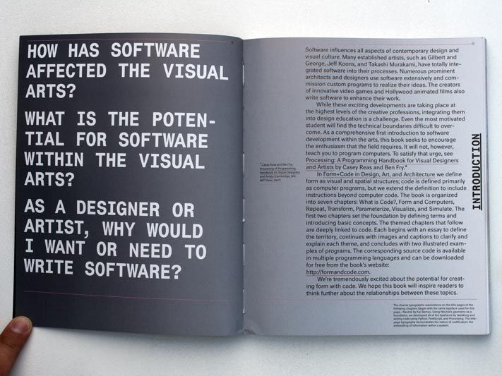 FORM+CODE In Design, Art, and Architecture by Casey Reas, Chandler McWilliams, and LUST