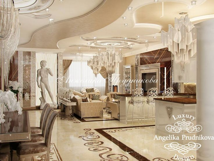 Роскошный интерьер квартиры в стиле Ар-Деко на улице Вернадского - фото