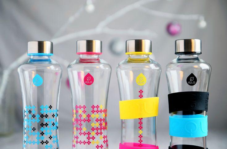 CMYK Squeeze bottles featured in Design.hu magazine  #myequa #glassbottles #designbottles #ecological #sustainable