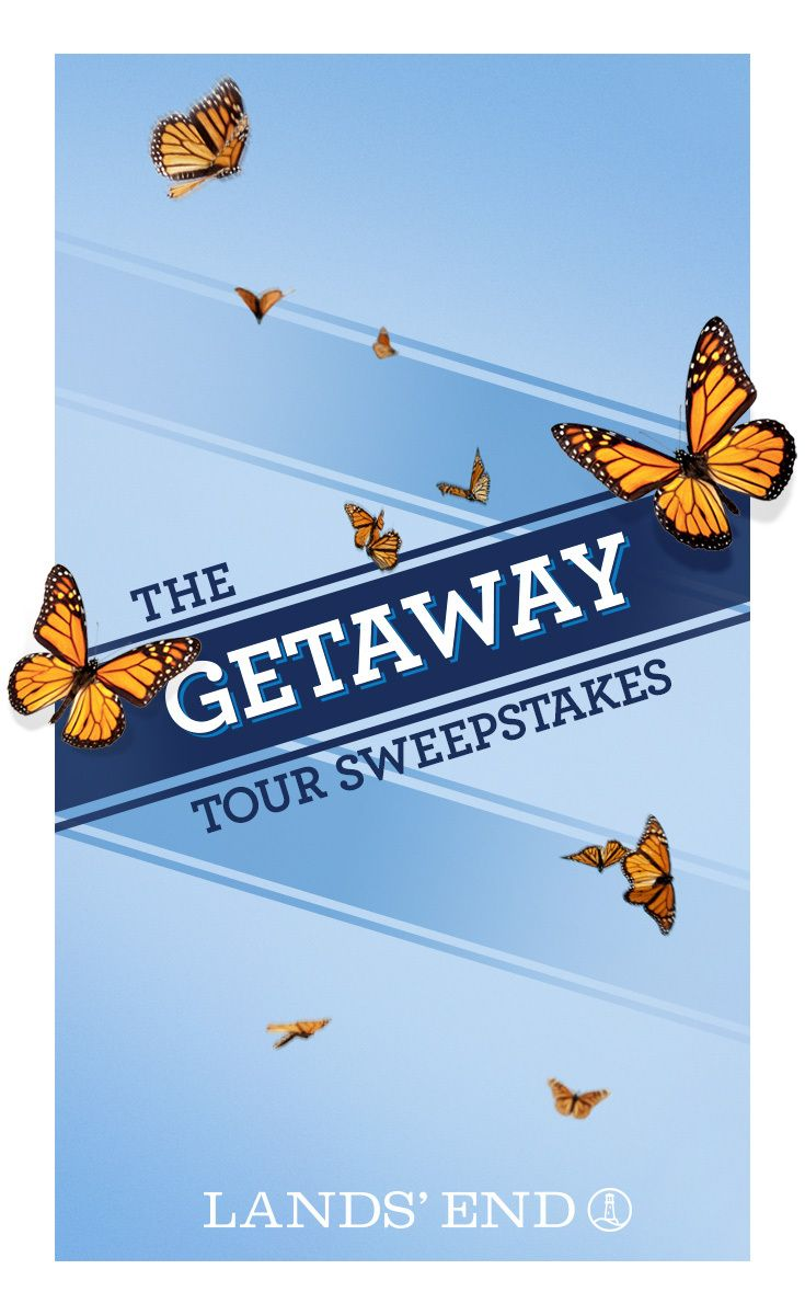 WIN A BEACH HOUSE GETAWAY! Enter the Lands' End Getaway Tour Sweepstakes from May 12 through June 7 for your chance to win a one-week trip for four to a luxurious Wyndham Vacation Rentals beach house!