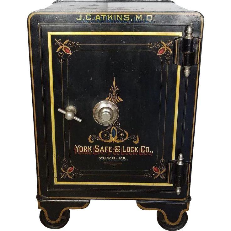 Antique Floor Safe c. 1900 York Safe and Lock Co. Cleaned