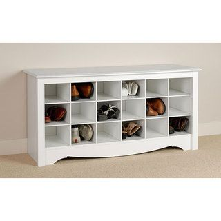 @Overstock.com - Winslow White Shoe Storage Cubbie Bench - Store your shoes in the same place you put them on with our Shoe Storage Cubbie Bench. Dual-purposed and versatile, this bench is a great addition to your foyer, mudroom, utility room or bedroom. http://www.overstock.com/Home-Garden/Winslow-White-Shoe-Storage-Cubbie-Bench/5040207/product.html?CID=214117 $134.98