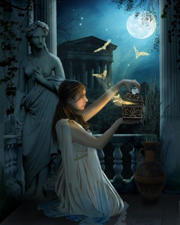 best open pandora s box images greek mythology pandora opened the box which released all the evils of the world when she closed it again only hope remained inside by derek brewster