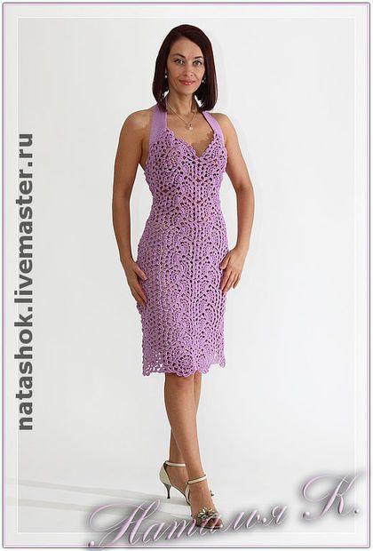 """Платье """"Элегия"""" - авторское платье,вязаное платье,нарядное платье,платье коктейльное"""