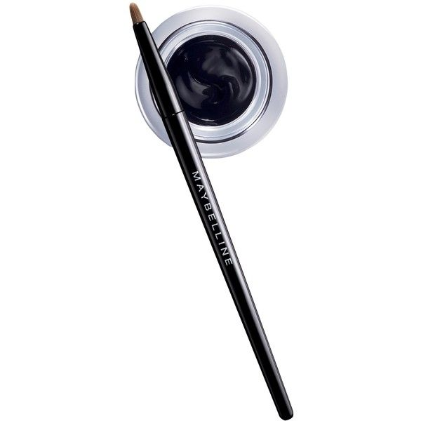 Maybelline Eye Studio Lasting Drama Gel Eyeliner - Blackest Black - . ($7.59) ❤ liked on Polyvore featuring beauty products, makeup, eye makeup, eyeliner, beauty, cosmetics, eyes, fillers, black and black eyeliner