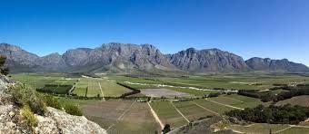 Slanghoek vallei in somer