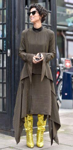 Yasmin Sewell, Street Style, Luxury Fashion, Metallic Boots, NYFW.