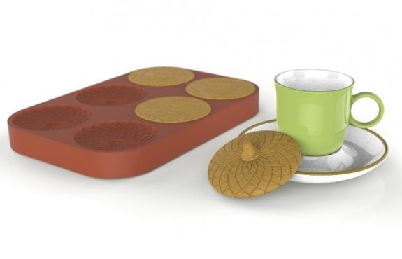 Türk kahvesi fincanı ve lezzetli kurabiye kapak
