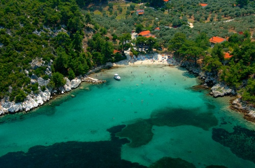 the shores of Thasos, eastern Greek Macedonia, Greece