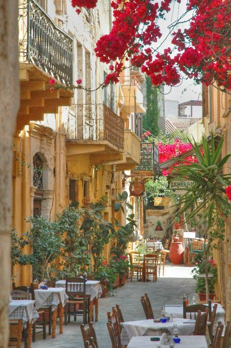 I long to wander the streets of someplace like this. The Isle of Crete in Greece.