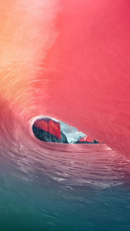OSX El Capitan Colorful Wave iPhone 6 Wallpaper - http://freebestpicture.com/osx-el-capitan-colorful-wave-iphone-6-wallpaper/