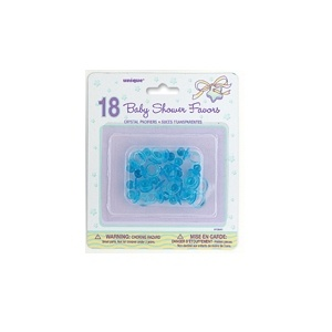Crystal Pacifiers Baby Shower Favours Blue