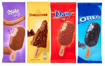 Milka Oreo Danim Toblerone  Ice Cream Bars