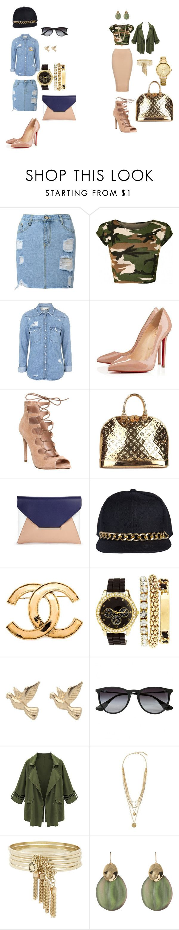 Riri street style by glamfash on Polyvore featuring mode, Topshop, Christian Louboutin, Office, Louis Vuitton, Sole Society, Charlotte Russe, Oasis, BCBGeneration and Alexis Bittar