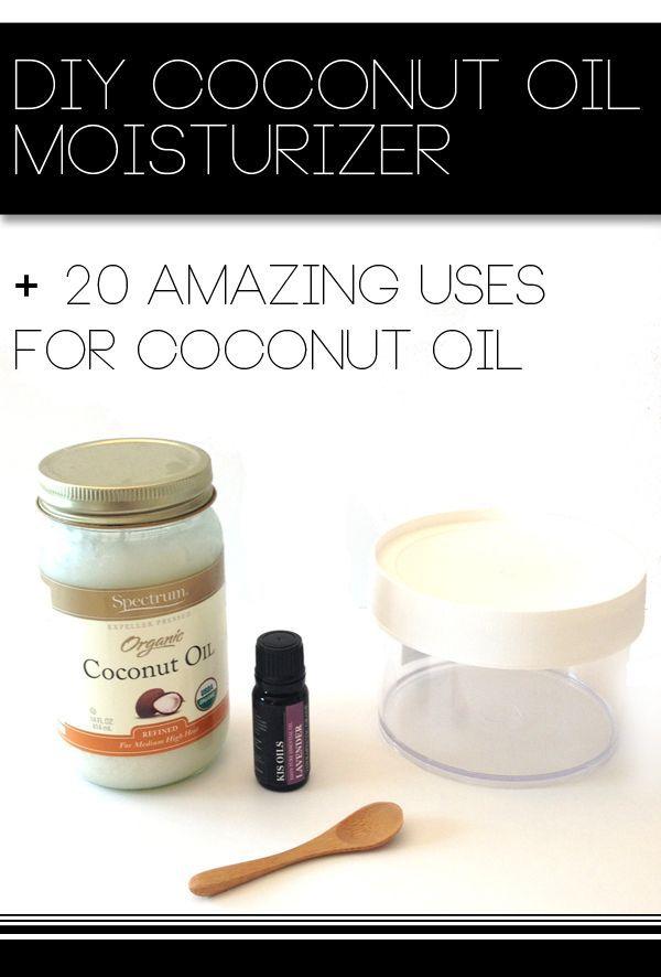 DIY Coconut Oil Moisturizer + 20 Amazing Uses for Coconut Oil...