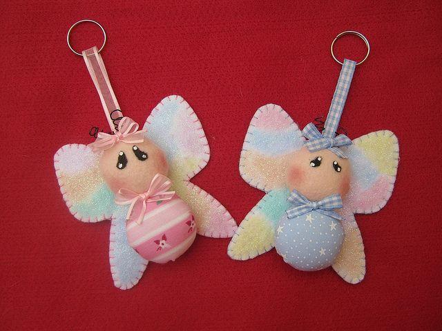felt baby angels  Luvas & Zoey!