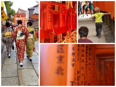Bold red colour at Fushimi Inari Taisha in Kyoto