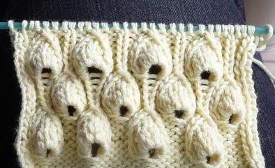 How to knit this seapock or digitalis stitch breien breiles leren breisteken