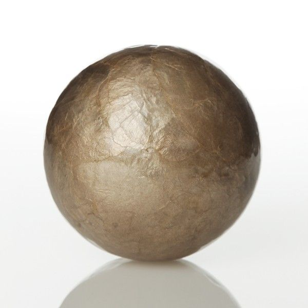 Pewter Capiz Decor Ball