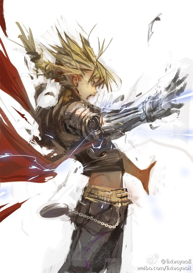 Edward Elric... The action and movement of this picture is great!!!