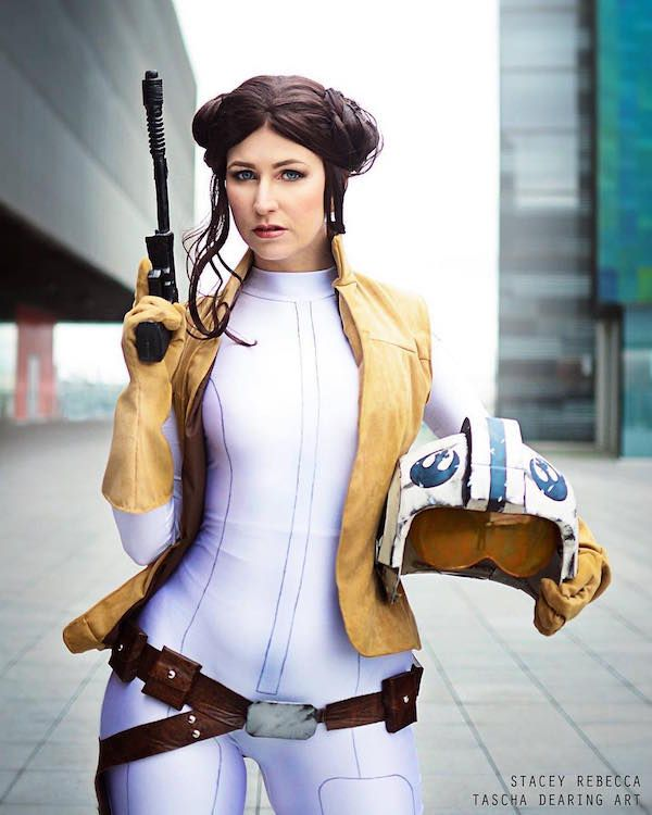 Stunning Princess Leia Comic Book Cosplay