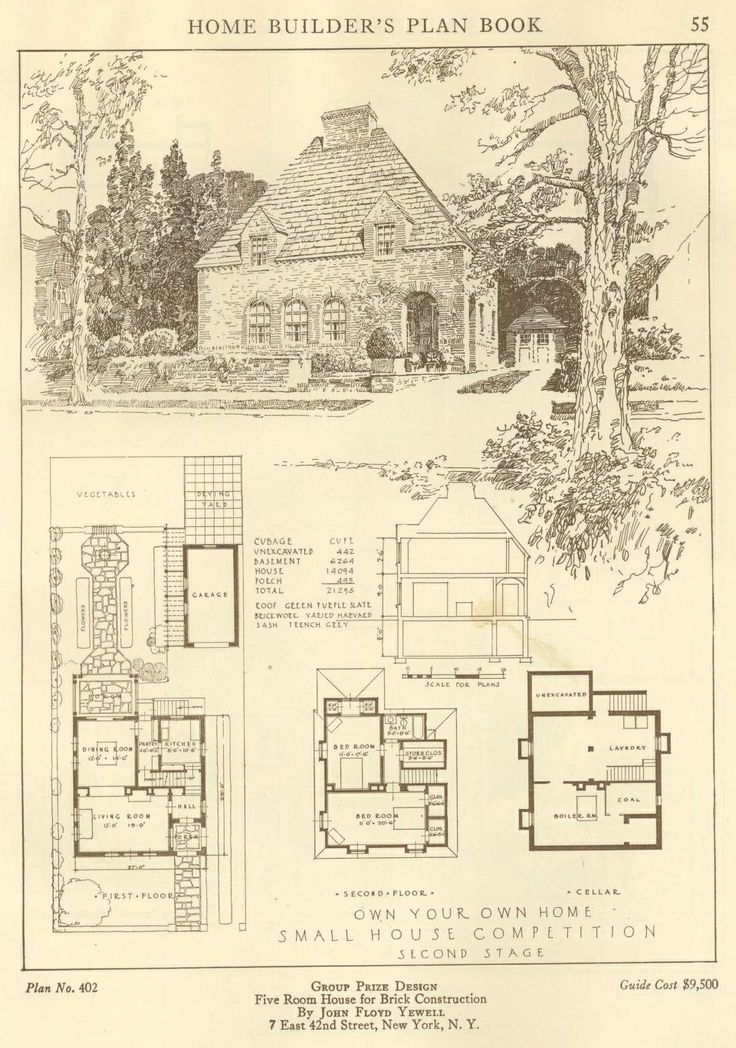 Home Builder's Plan Book, 1921.  Building Plan Holding Corp. From the Association for Preservation Technology (APT) - Building Technology Heritage Library, an online archive of period architectural trade catalogs. It contains thousands of catalogs. Select your material and become an architectural time traveler as you flip through the pages.
