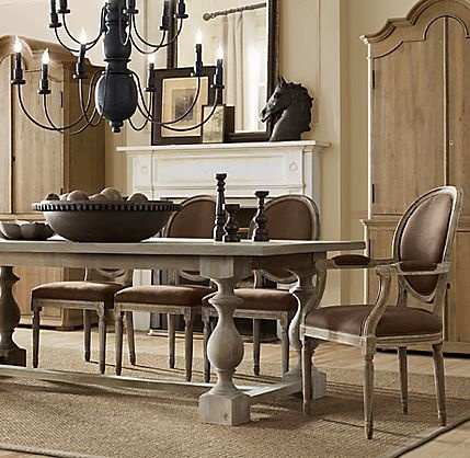 restoration hardware monastery dining table diy kitchen outlet island