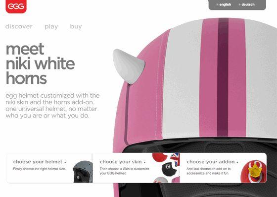 子供用にカスタマイズされたヘルメットを販売する『Egg Helmets』