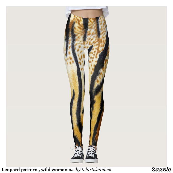 #Leopard #pattern , #wild #woman on #Jungle #Leggings #animal