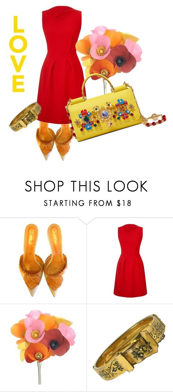 """""""oh, so you are the one who said that I do not know how to dance........ why do not you show me?"""" by awewa ❤ liked on Polyvore featuring YSL RIVE GAUCHE, Roland Mouret and Dolce&Gabbana"""