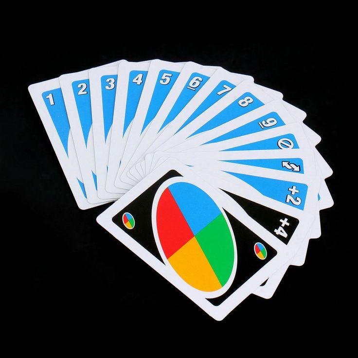2017 Keluarga Lucu Hiburan Papan Permainan UNO Poker Bermain Kartu Puzzle Game Set untuk Permainan Kartu poker Deck Hadiah Gratis pengiriman