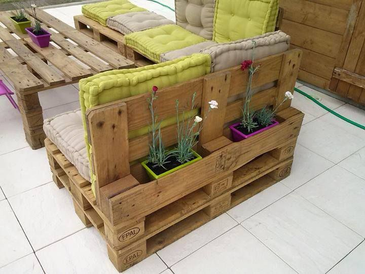salon jardin palettes on Pinterest  Pallet chair, Pallet wood and