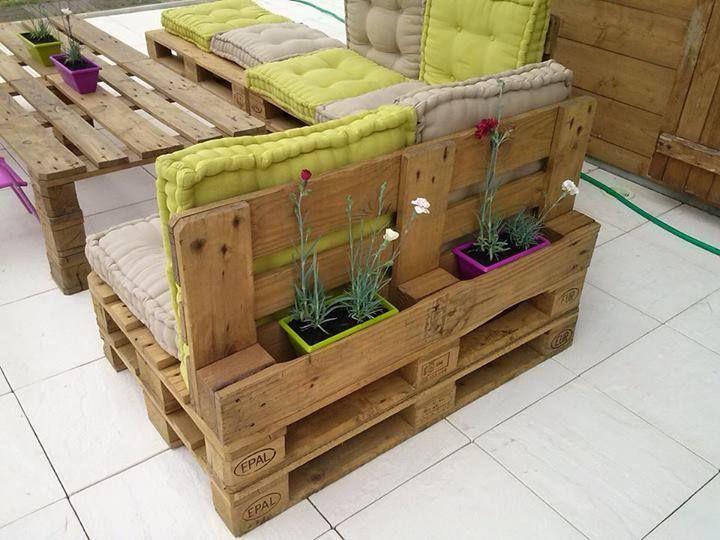 Salon De Jardin Avec Palette En Bois