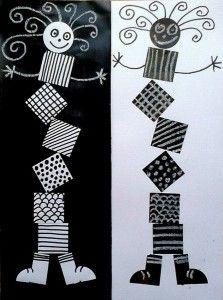 carré noir et blanc