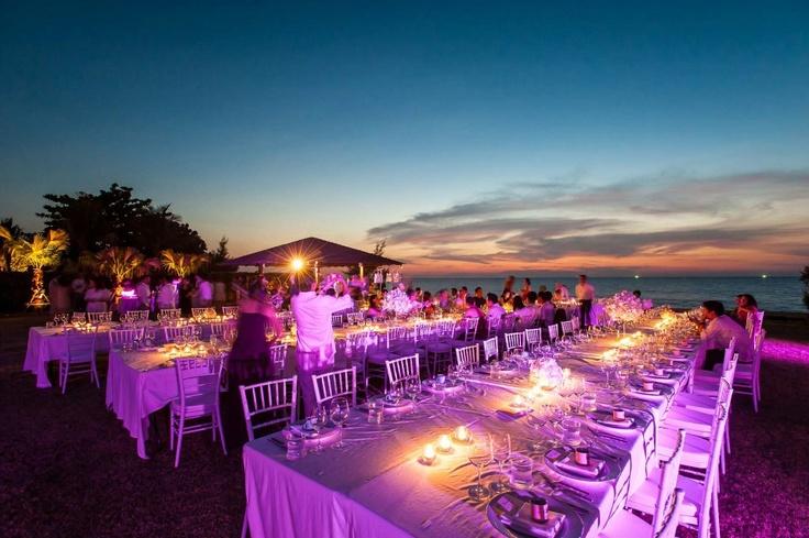 Destination Beach Wedding Dinner Reception