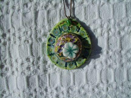 lucky ceramic pendant