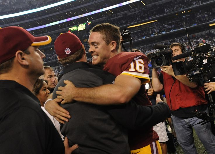 Third-string quarterback Colt McCoy was cool down the stretch, completing all five tosses in overtime to lead the Redskins past the heavily favored Cowboys 20-17 in his Texas homecoming.