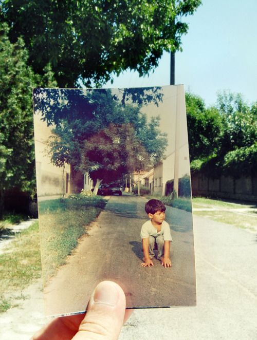 Dearphoto.com - taking pictures of the past and putting them in the present, a great idea.
