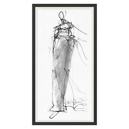 Fashion Sketch Framed Print 2