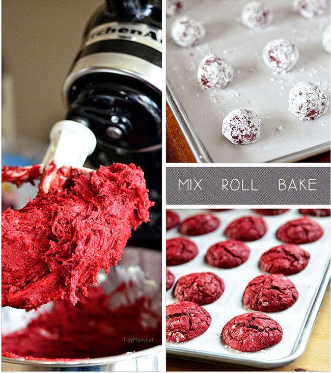Red Velvet Gooey Butter Cookies recipe at TidyMom.net