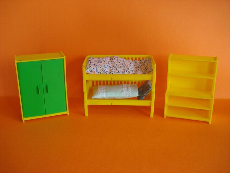 VINTAGE DOLLS HOUSE MINIATURES JEAN OF WEST GERMANY - BUNKS, WARDROBE & DRESSER | eBay