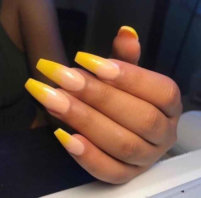 Best 25+ Yellow nails ideas on Pinterest   Long nails ...